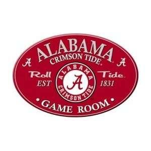 Alabama Crimson Tide Oval Style Game Room Sign