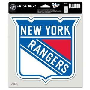 New York Rangers 8x8 Die Cut Full Color Decal Made in the USA