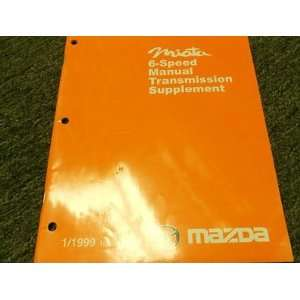 Speed Manual Transmission Service Repair Shop Manual BOOK 99 mazda