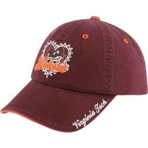 the World Virginia Tech Hokies Maroon Ladies True Love Adjustable Hat