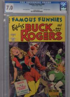 FAMOUS FUNNIES#209 featuring BUCK ROGERS FRAZETTA COVER