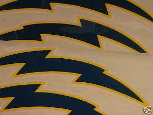 SAN DIEGO CHARGERS Throwback Helmet Decals Full Size