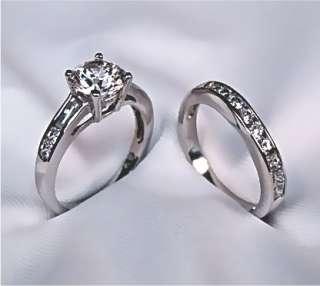 25Ct Round Engagement Wedding Ring Set 14K Solid Gold