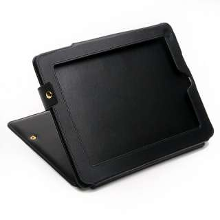 Black Leather Flip Case Cover Stand Pouch for iPad 1st