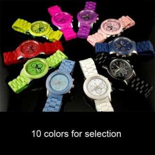 Candy colored Mens Women Ladies Wrist Watch 10 Colors