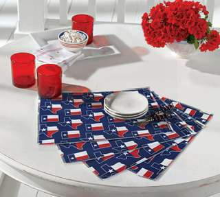 Lone Star TEXAS FLAG PLACEMAT SET by Broad Bay Gifts I