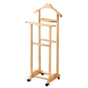 272 N Natural Beech Wood Valet Stand with Tray 272 N: Home & Kitchen