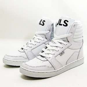 Mens White Shiny High Top Sneakers Shoes US size 6~10