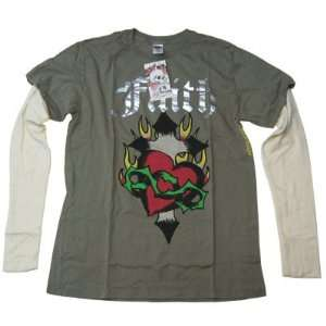 New Ed Hardy Men Shirt Faith Color Olive: Everything Else