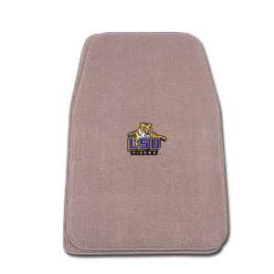 Universal Fit Front Two Piece Floormat with NCAA LSU Logo Automotive