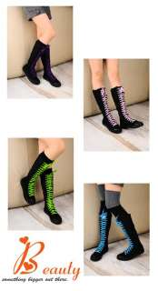 New Girl Punk EMO Rock Gothic zip Lace up Canvas boot shoe sneaker