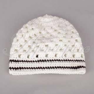 Cute Toddler Baby Crochet Handmade Hat Infant Cotton Beanie Flower Cap