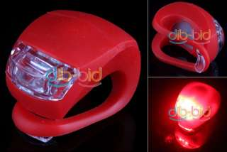Silicone Bike Bicycle Rear Wheel LED Flash Light Red