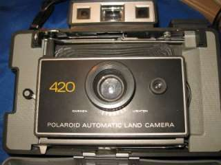 POLAROID 420 LAND CAMERA IN ORIGINAL CASE, FIRES, (37)