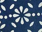 Hand Block Print, Cotton Fabric. Natural Indigo Dye. 2½ Yards