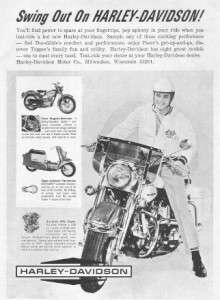 1964 Harley Davidson Duo Glide FLH Motorcycle Ad