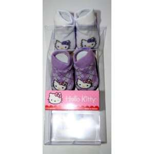 Hello Kitty Booties Girl Baby Infant with Hello Kitty Sign Sock 2 Pair
