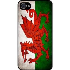 Rikki KnightTM Wales Flag Black Hard Case Cover for Apple