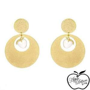 Apple Bottoms Lovely New Earrings~Crystal~GP Base Metal
