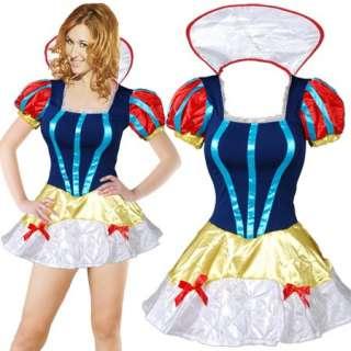 J413 Sexy White Snow White Princess Fancy Costume Dress