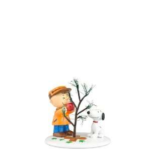 Enesco Peanuts Village Christmas The Perfect Tree Figurine