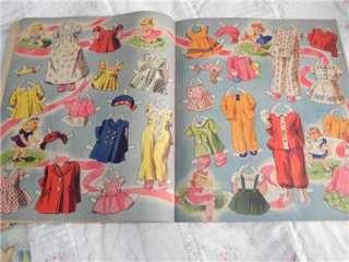 1944 Vintage Merrill Paper Doll Book~Watch Me Grown~Uncut~