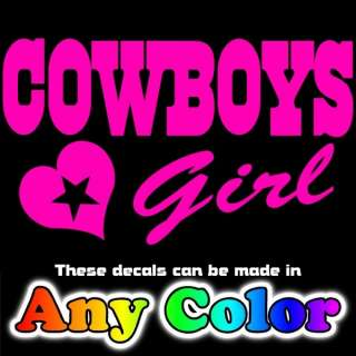 Pink Cowboys Star Logo Car Truck Decal Window Sticker