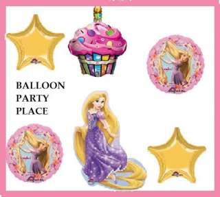 RAPUNZEL tangled birthday party supplies BALLONS FIRST SECOND