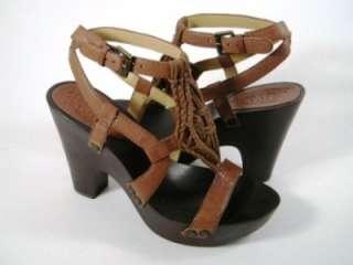 Nine West Dilemma Brown Leather Sandals vintage col NEW