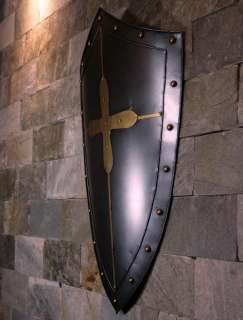 Medieval Knight Shield Handcrafted Metal Iron
