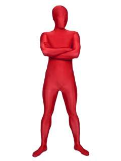 SUIT FULL BODY SPANDEX/LYCRA COSTUME SECOND SKIN RED BLUE GREEN BLACK