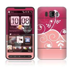 HTC HD2 Decal Vinyl Skin   Pink Abstract Flower