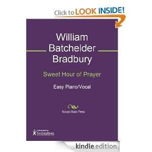 Sweet Hour of Prayer Sheet Music William Batchelder Bradbury