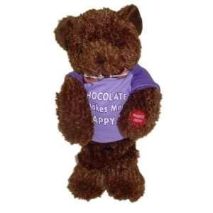 Singing Chocolate Bear Sings I Feel Good   Purple Shirt Toys & Games