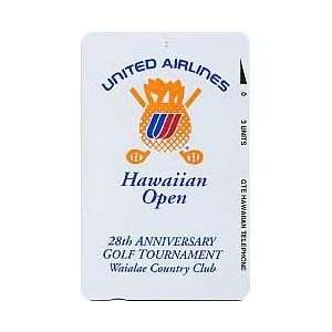 3u,10u 28th Hawaiian Open Golf Waialae CC (United Airlines) Set of 2