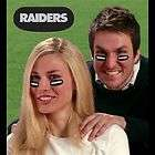 OAKLAND RAIDERS Logo NFL Vinyl Eye Black Strips 6 Count Package NEW