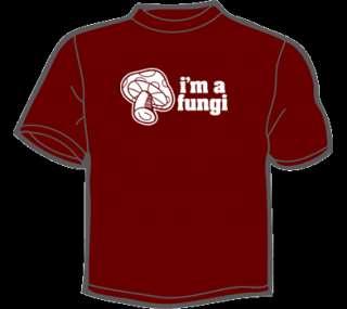 FUNGI T Shirt MENS funny vtg 80s geek science