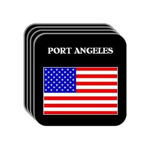 US Flag   Port Angeles, Washington (WA) Set of 4 Mini