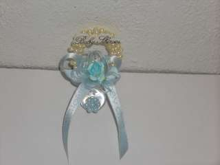 Baby Shower Corsage Pacifier Baby Boy Craft Blue Bd BL