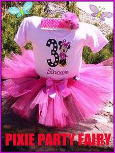 personalized T shirt Tutu Boutique Birthday Party Outfit Girl