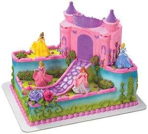 DISNEY PRINCESS CASTLE CAKE KIT  carrying case NEW