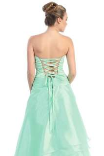 New Lace Up Back Tiered Strapless Formal Dress Ball Gown Regular