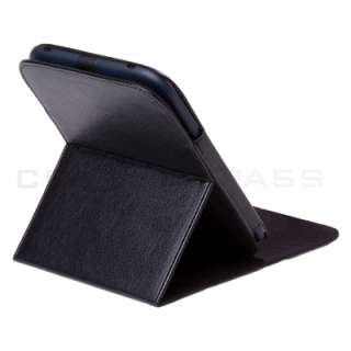 Barnes Noble Nook 2 2nd Black Leather Case Cover Stand
