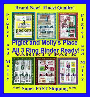Coupon Binder Sleeve Page Holder Organizer Sample Pack!