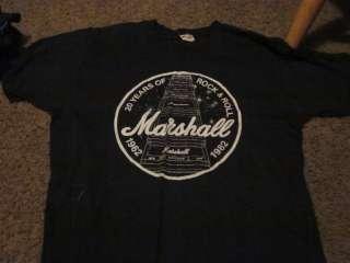 MARSHALL AMP MEDIUM T SHIRT 20 YEARS OF ROCK & ROLL 1962 1982