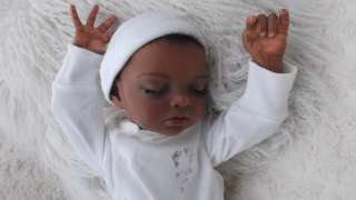 Reborn Baby Girl Ethnic Bi racial Doll Sculpt by Natali Blick