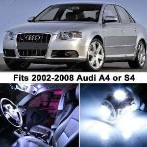Audi A4 S4 WHITE LED Lights Interior Package Kit B6 B7 (14