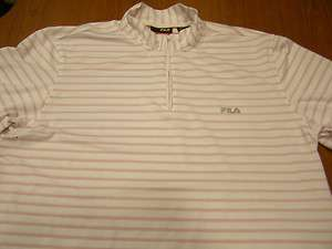 FILA Cycling Shirt/Jersey White & Red Men or Women Large