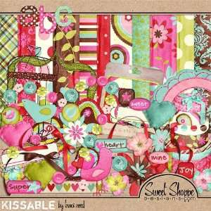 Digital Scrapbooking Kit: Kissable by Traci Reed: Arts