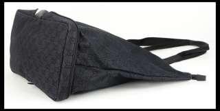 GUCCI BAG GG LOGO BLACK SIGNATURE FOLDING TRAVEL TOTE COLLAPSIBLE